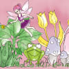 Magical Garden Pink Self-Adhesive Borders Removable Wallpaper
