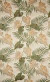 Natural Tropical Leaf Outdoor Rug 3'6
