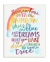 Dreams Come True Rainbow Wood Plaque Wall Art