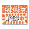 Clemson Ceramic 4 Section Tailgating Serving Platter