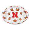 Nebraska Ceramic Football Tailgating Platter