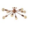 Copper 8-Light Sputnik Metal LED Flush-Mount, Copper