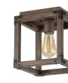 Iron Rustic Farmhouse LED Flush Mount, Brown
