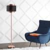 Metal Floor Lamp, Copper/Black