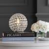 Acrylic/Metal Table Lamp, Clear