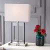 Crystal Table Lamp, Clear/Black