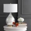 Glass/Metal Table Lamp, Mercury Silver