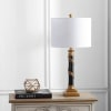 Resin Table Lamp, Antique Gold/Black