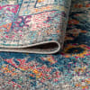 Bohemian Flair Boho Vintage Faded Navy & Cream Area Rug