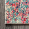 Contemporary Modern Abstract Blue/Red 5' x 8' Area Rug
