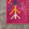 Tribal Love Geometric Pink/Multi Area Rug