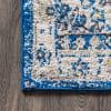 Bohemian FLAIR Boho Vintage Medallion Blue/Cream 3' x 5' Area Rug