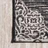 Ornate Medallions Black/Ivory Outdoor  Area Rug
