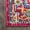 Geometric Medallion Red/Pink 2.25' x 8' Rectangular Runner Rug