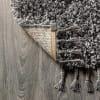 Shag Plush Tassel Charcoal 2.25' x 8' Runner Rug