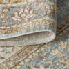 Floral Medallion Chambray Blue/Ivory  3' x 5' Area Rug