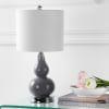 Mini Glass Table Lamp, Gray