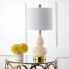 Mini Glass Table Lamp, Ivory
