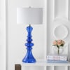 Curved Glass Table Lamp, Cobalt