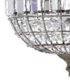 Crystal/Metal LED Chandelier Pendant, Antique Brass