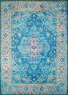 Brilliant Blues Ornate 2' x 8' Runner Rug