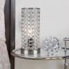 Glamorous Genuine Clear Crystal Beaded Accent Table Lamp