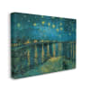 Classic Starry Night Over the Rhone Van Gogh Painting XXL Stretched Canvas Wall Art by Vincent Van Gogh 30 x 40
