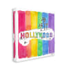 Vibrant Hollywood Hills Watercolor Rainbow Text Oversized Stretched Canvas Wall Art by Mark Higden 24 x 24