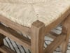 Newport Rush Seats Set of Two Wood Counter Height Stools