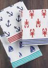 Ahoy Set of 3 Dishtowels