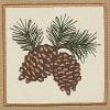 Kitchen Textile Collection, Potholder & Dishtowel Gift Set, Pine Cone Sprig 2 Piece
