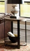 Modesto Dia Reclaimed Wood Round End Table