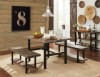 Pomona Metal and Wood Dining Table