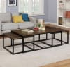Arcadia Acacia Wood Coffee Table with Nesting Tables