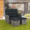 Monaco All-Weather Reclining Bench Set