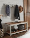 Savannah Ivory Coat Hook with Bench Set