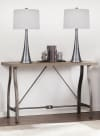 Vintage Metal Featuring Tapered Curve Design Set of 2 Table Lamps