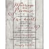 A Marriage Is A Promise Timberland Wood Plaque