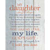 My Daughter Timberland Wood Plaque