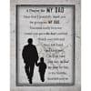 Prayer My Dad Timberland Wood Plaque