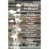 Sister in Heart Wood Plaque Easel