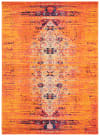 Gemma Orange and Multi Polypropylene Rug