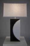 Half Moon Brushed Nickel Table Lamp