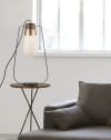 Sunset Standing Matte black & Weathered Brass Table Lamp