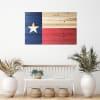 Texas Flag Print on Wood Wall Art