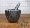 Marble Gray Mortar & Pestle