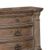 Traditional Intricate Carvings 3-Drawer Wooden Brown Nightstand