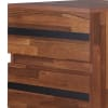 Angled Leg Support 2-Drawer Wooden Brown and Black End Table