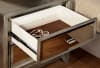 Contemporary 2-Drawer Solid Wood Silver Nightstand