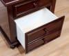 3-Drawers Wooden Dark Brown with Turned Legs Nightstand